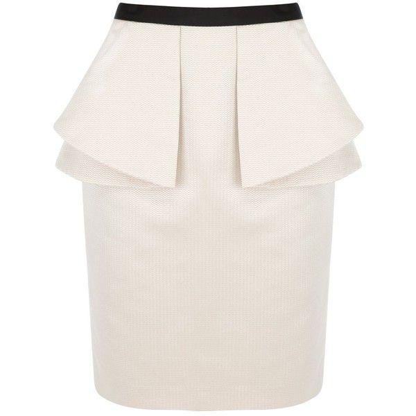 Coast Renee peplum skirt ($130) ❤ liked on Polyvore