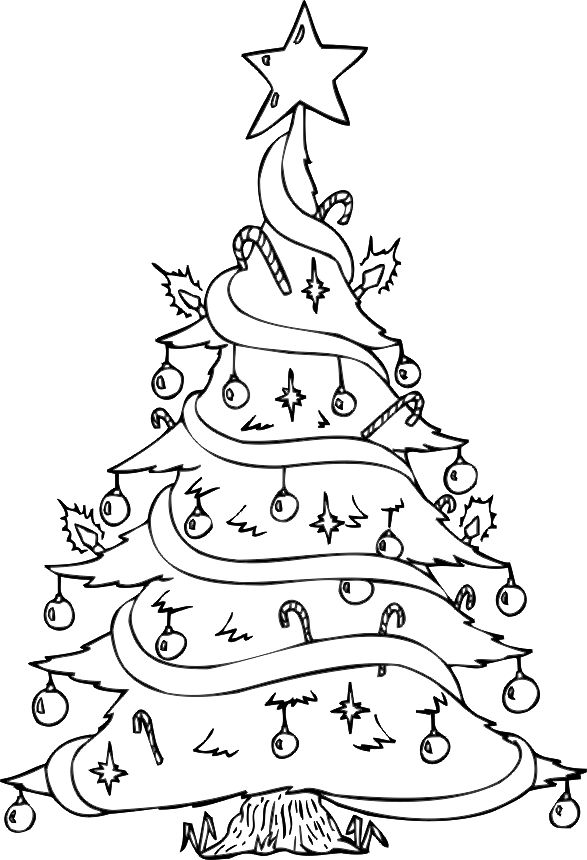 Best 25 Christmas Tree Coloring Page Ideas