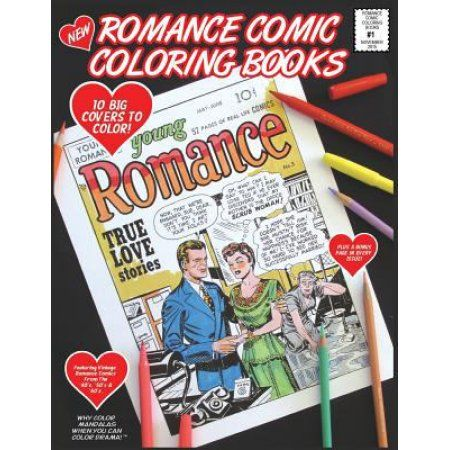 Romance Comic Coloring Book - #1