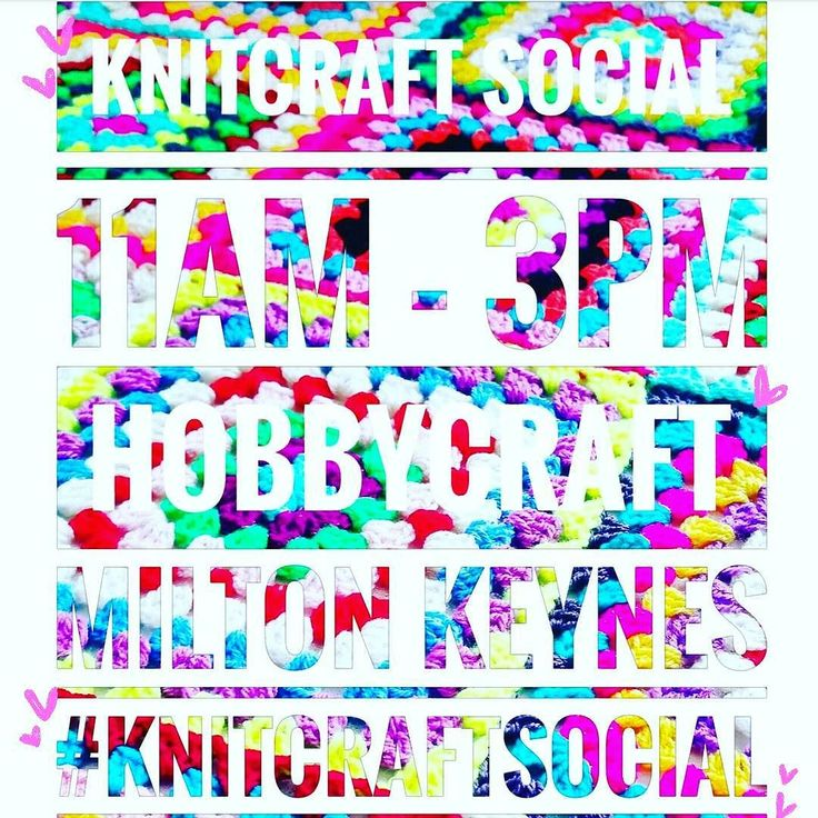 Yay! #knitcraftsocial today @hobbycraft_MKN 11am to 3pm Who's coming to have a yarn party with me? You can join in on Insta too using the tag #knitcraftsocial... woop woop!! Making #grannysquares today but anything goes! Show me and @knitcrafthq at @hobbycrafthq all your pretties awesome Instas big love!! #yarnaddict #crocheteveryday #crochetaddict