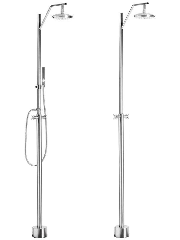Stainless Steel Freestanding Outdoor Shower In 2019 Outdoor Shower