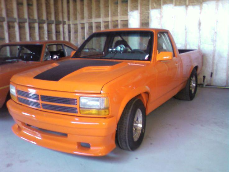 F Fc A F Ef Dodge Dakota Orange on 2000 Dodge Dakota Sport Lifted