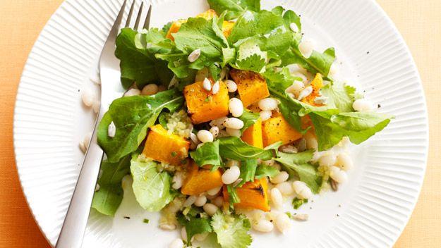 Pumpkin and white bean salad recipe - 9Kitchen