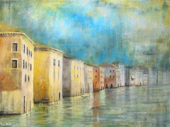ARCHITECTURE Painting, Venice - Fine Art GICLEE PRINT after an original painting by Milena Gawlik