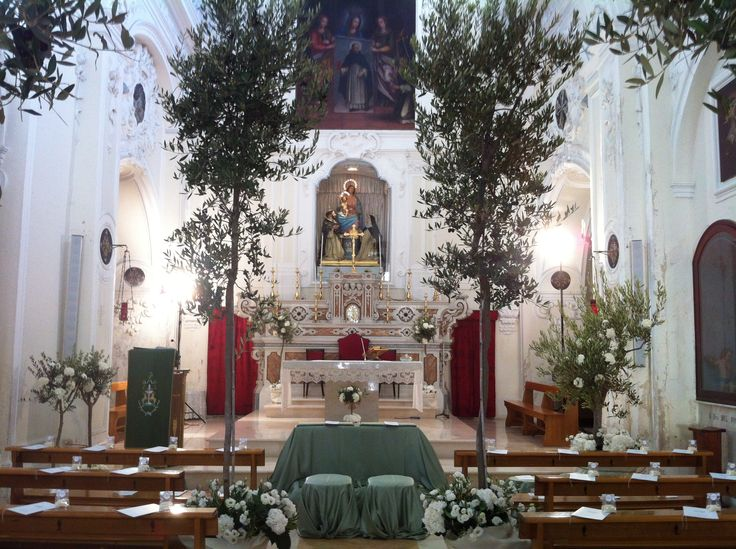 354 best church wedding decorations images on pinterest church an olive grove for catholic ceremony in matera italy luxury weddings in italy floral church wedding decorationsfloral junglespirit Images