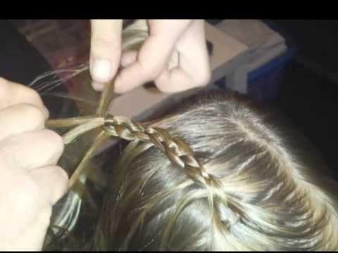 ▶ 4 strengen ladder vlecht - YouTube
