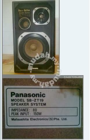 Panasonic Hifi Speaker - TV/Audio/Video for sale in Bandar Bukit Tinggi, Selangor