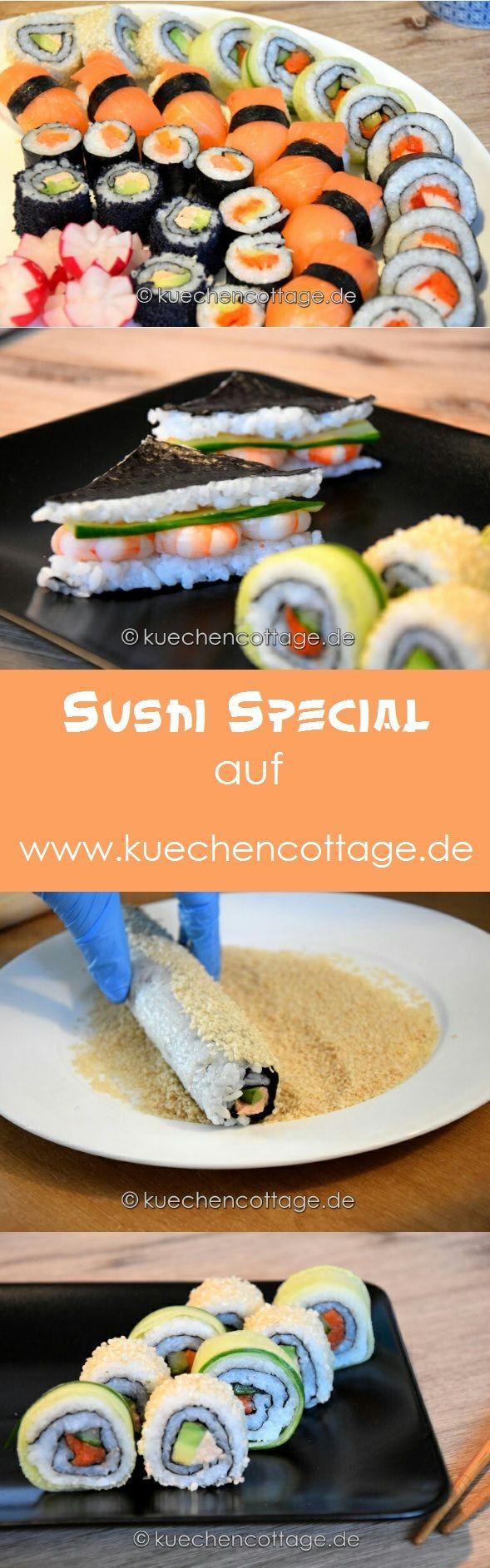 Großes Sushi Special | viele verschiedene Sushi Rezepte California Rolls, Sushi Sandwhich und Maki