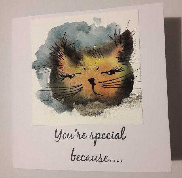 Fasters korthus: watercolour Cat