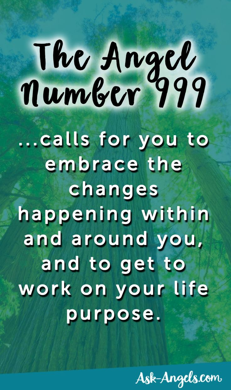 The Angel Number 999 calls for you to embrace the changes happening within and around you, and to get to work on your life purpose.