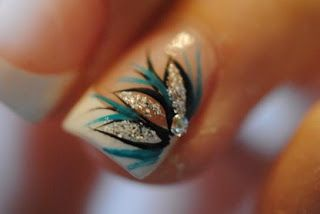 Acrylic+Nail+Designs+for+Autumn | Cute Acrylic Nail Designs with Crystal