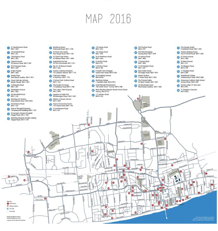 Download the map for Worthing Artists Open Houses # WAOH16 from our website www.worthingartistsopenhouses.com