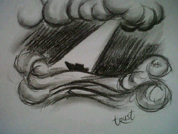 Trust Prophetic Charcoal Artwork by Dion James Raath