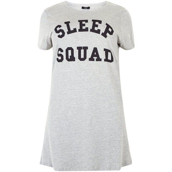 New Look Plus Size Grey Sleep Sqaud Print Nightshirt (250.515 IDR) ❤ liked on Polyvore featuring intimates, sleepwear, nightgowns, grey, plus size night shirts, plus size nightgowns, short sleeve sleep shirt, night shirt and plus size sleepshirt
