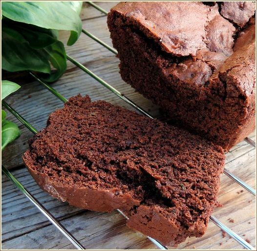 Cake chocolat basilic