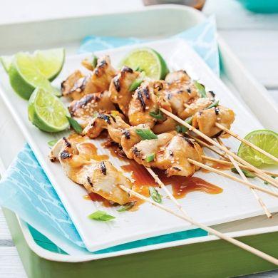 Lanières de poulet yakitori au sésame - Recettes - Cuisine et nutrition - Pratico Pratique