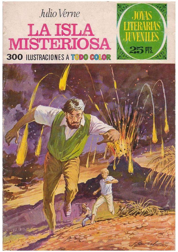 La Isla Misteriosa Comics Book Cover Design Comic Art