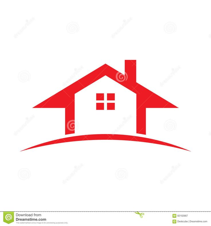 real estate houses clipart. red real estate house illustration houses clipart