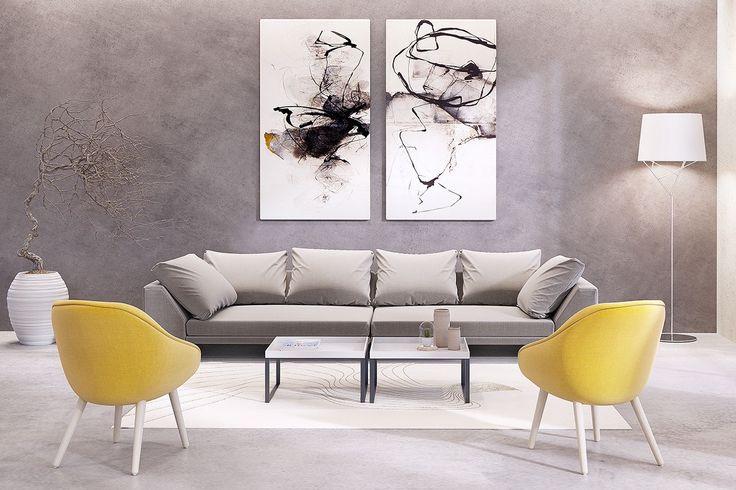 Des idées inspirantes de toiles murales grand format pour le salon