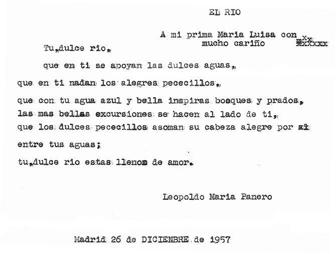 Poema de Leopoldo María Panero (El río), autor de la Literatura Contemporánea.