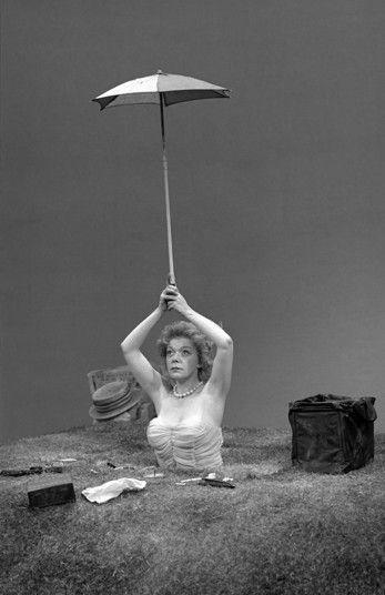 Winnie (Brenda Bruce) in Happy Days by Samuel Beckett, Royal Court, 1962.