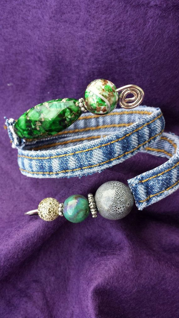 Hey, I found this really awesome Etsy listing at https://www.etsy.com/listing/168634811/one-of-a-kind-recycled-denim-beaded