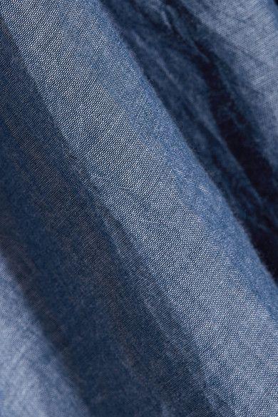 APIECE APART - Galisteo Smocked Cotton-chambray Top - Blue - US8