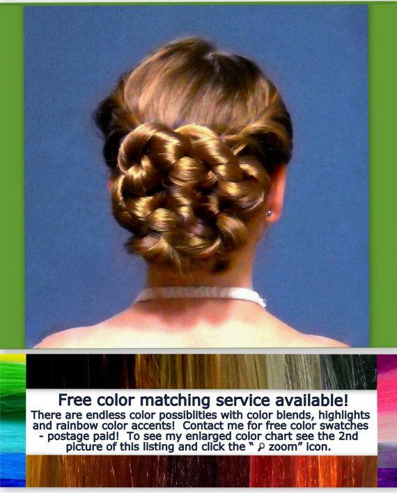 wedding accessory Bridal hair bun hair piece by Puppycatmeow, $45.00