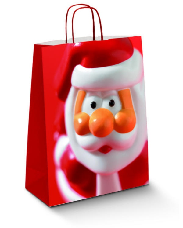 Santa Red - Xmas Carrier Bags  €57.00 per box (150bags)
