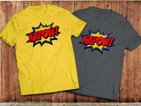 kapow T-Shirt retro Comic book batman tv series superhero by Union9 | Etsy