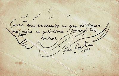 ¤ Enveloppe Jean Cocteau 1952