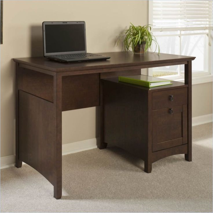 Bush Buena Vista Desk with File Drawer in Madison Cherry Finish - MY13823-03 - Lowest price online on all Bush Buena Vista Desk with File Drawer in Madison Cherry Finish - MY13823-03