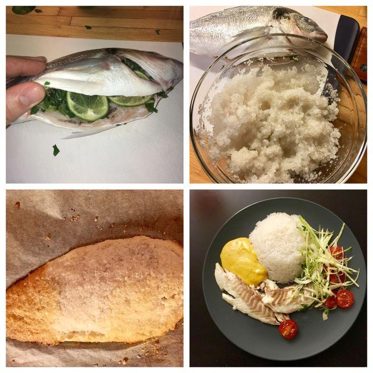 Dorada in salt.  Amazing taste!!!  My menu #dorada #mykitchen  #fish
