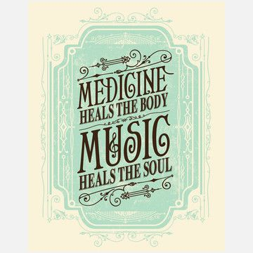 "Music Heals Print 11x14""  by Status Serigraph: Inspiration, Musicquotes, The Body, Music Healing, Art Prints, Music Quotes, Medicine Healing, True Stories, Soul Music"