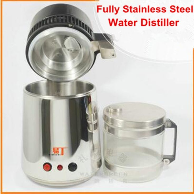 159.12$  Buy here - http://aliwtk.worldwells.pw/go.php?t=32696060438 - Water Distiller Pure 220V Water Purifier Filter 750W Stainless Steel Water Distiller Machine for Home Hospital Lab Office HA148 159.12$