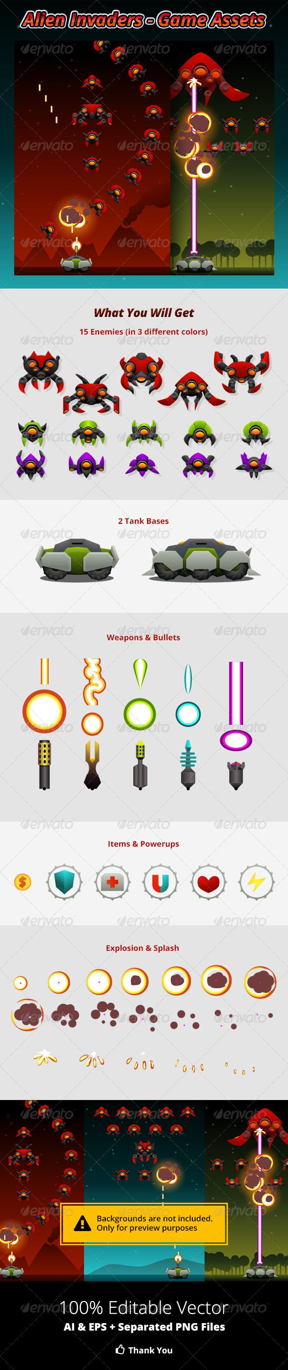 Alien Invaders Game Assets Download here: https://graphicriver.net/item/alien-invaders-game-assets/8574750?ref=KlitVogli