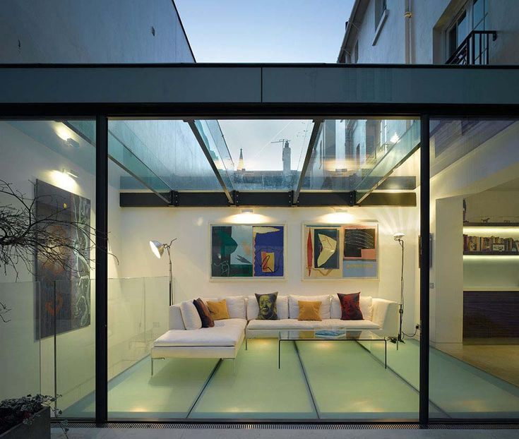 Basement Extension Ideas Part - 46: A Listed London Home Has Received An Extension In Glass, Creating A  Contemporary Living Area Above A New Basement Studio