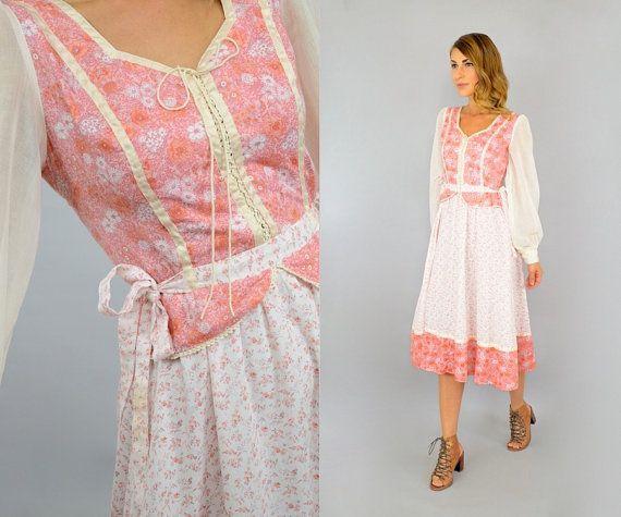 70's snoep Jones jurk van discoleafvintage op Etsy