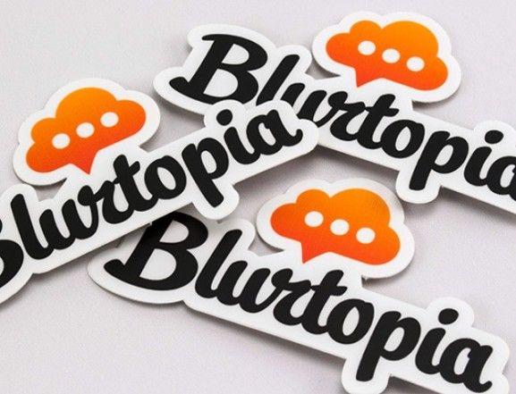 35 Contoh Desain Sticker Sebagai Media Promosi yang Efektif - 35. Blurtopia Stickers