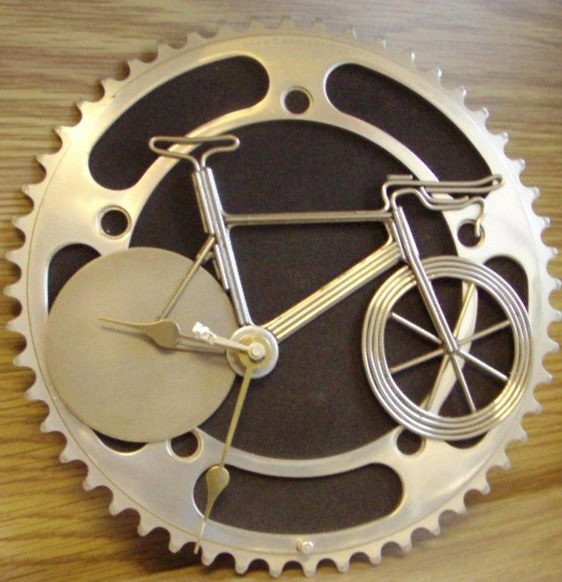 what a creative #bicycle clock