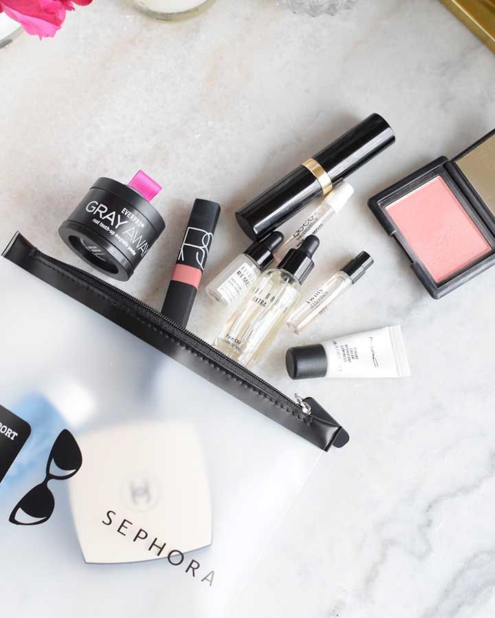 I love to travel, but you can imagine that as a beauty addict (I definitely qualify as one) I am super high maintenance when it comes to packing my beauty products. I've previously shared all of the stuff I bring with me when I travel, and I admit that I try to pare it down more and more each time. I have varying degrees of success at this! A lot of the actual products that…
