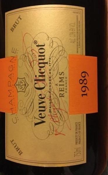 1989 Veuve Clicquot Ponsardin Champagne Vintage Cave Privée
