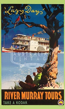 River Murray Tours  James Northfield  Australian Vintage Posters