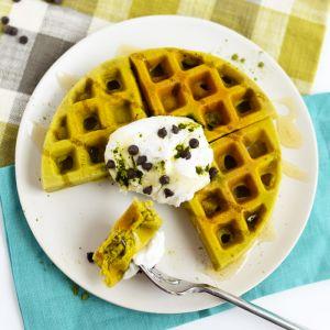 Matcha Green Tea Green Waffles