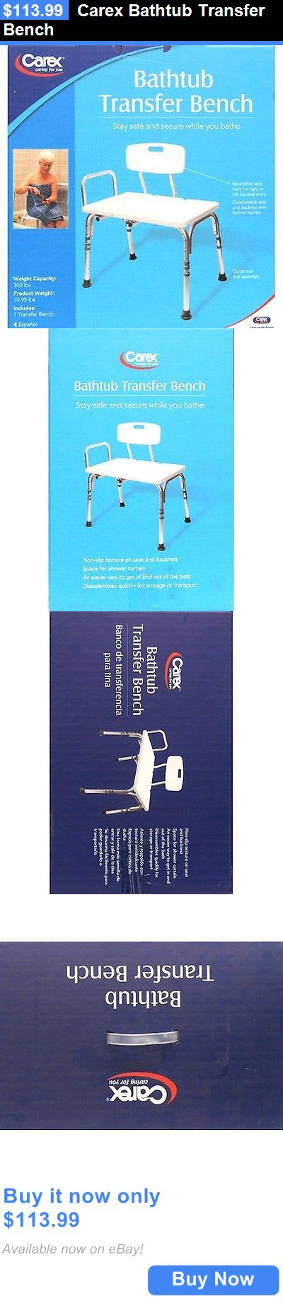 Transfer Boards and Benches: Carex Bathtub Transfer Bench BUY IT NOW ONLY: $113.99