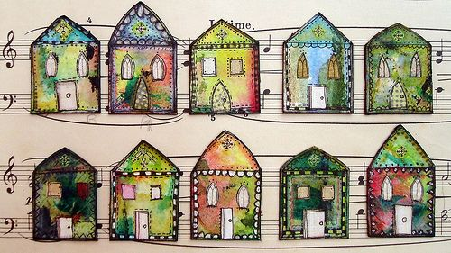 inchie houses, by georgina ferrans aka phizzychick!, via flickr #art #collage #georginaferrans #house