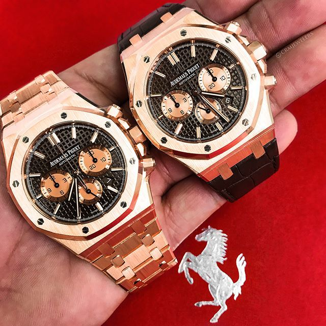 Double Ap Chocolate The Perfect Duo Which Is Your Favorite All Gold 49500 Brown Leather 38 Watches Women Fashion White Watches Women Rose Gold Watches Women