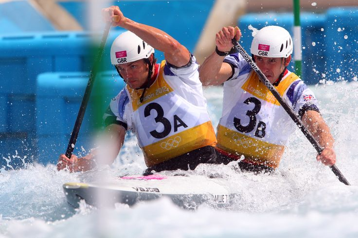 David Florence, Richard Hounslow in the canoe slalom at London 2012