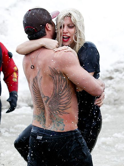 Lady Gaga Takes the Plunge with Taylor Kinney – but It's Not What You Think  Couples, Lady Gaga, Taylor Kinney
