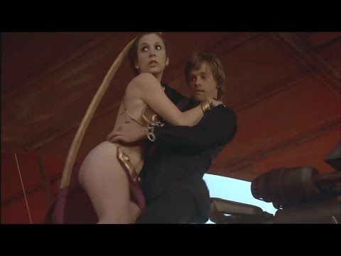 Hot scene Carrie Fisher as Princess Leia in star wars 2017   opentotheworld